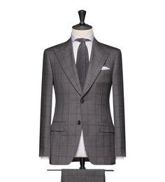 This cloth is a Medium Grey Faux Uni with a Dark Grey Windowpane. Cloth Weight: 270g Composition: 100% Wool