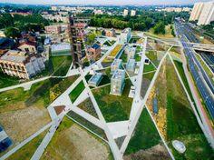 Świetne ujęcie #Muzeum #Slaskie w #Katowice od #Ra2nski.ego Poland, The Good Place, Dolores Park, Arch, Fair Grounds, Places, Fun, Travel, Longbow