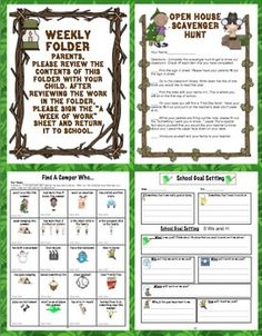 Camping Theme Back to School Mega Pack 2nd Grade Classroom, Classroom Themes, Classroom Activities, Classroom Organization, Open House Activities, Camping Activities, Camping Ideas, Beginning Of The School Year, Back To School