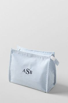 OXFORD CLOTH COSMETIC BAG. and it's MONOGRAMMED! #tsm #monograms