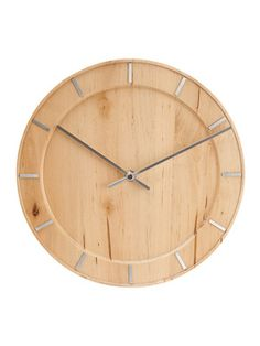 Natural Wood Wall Clock by Karlsson by Present Time on Gilt Home