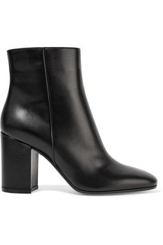 Heel measures approximately 85mm/ 3.5 inches Black leather Concealed zip fastening along side Made in Italy
