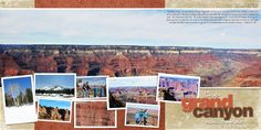I can't wait to get my Grand Canyon pictures printed so I can do a simple page highlighting the beauty of the natural landscape.