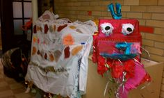 To celebrate Chinese New Year we had children draw and design a dragon and then build it with boxes and sheets before a parade.