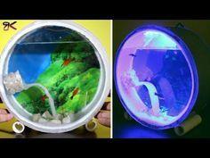 Diy Mini Aquarium From Pvc Pipes And Led Diy Aquarium Paralon Youtube In 2020 Mini Aquarium Diy Aquarium Led Diy