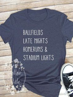 Womens Boutique Tee - Baseball, Softball, anytime spent on a ballfield is a good time! Between practices and ball games, if you feel like thats where you spend most of you free time, then this tee is for you. We use a high quality Bella + Canvas brand shirt and quality HTV to create