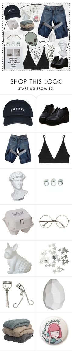 """""""Reality is catching up with me"""" by banngtanboys ❤ liked on Polyvore featuring Panda, Sandro, Base Range, Eichholtz, Maison Margiela, Imm Living, H&M, Japonesque, CB2 and Patagonia"""