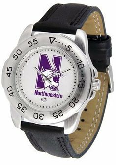 Northwestern Wildcats Suntime Mens Sports Watch w/ Leather Band - NCAA College Athletics by SunTime. $41.95. A true sports person's watch, the Sport features: a durable rotating timer/bezel, stainless steel finish, scratch resistant crystal, quartz accurate movement, color coordinated leather strap, date function and a big, bold California State (Northridge) Matadors team logo on the dial. Wear it to a game, while watching a game or just to show off your NCAA pride w...