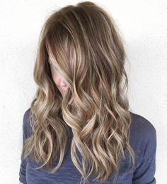 Wavy+Brown+Hair+With+Highlights