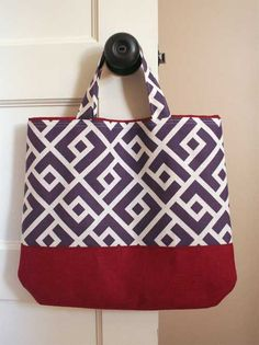 Free Bag Pattern and Tutorial - Fat Quarter Tote Bag