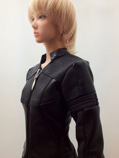 Bikers Jacket ''Cut off the Circle'' (Black and Suede-like Black) OS-187 OUGI SAIGON order-made studio for 1/3 scale Dolls