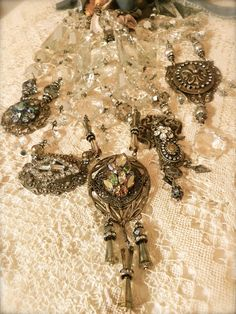 necklace by Diana Frey-her blog has wonderful pieces and she sells DVDs on Etsy as jewelry tutorials