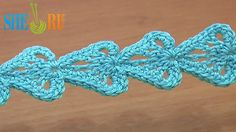 Crochet Ribbon Tape Leaf Motif Tutorial 24 Single Crochet Trim