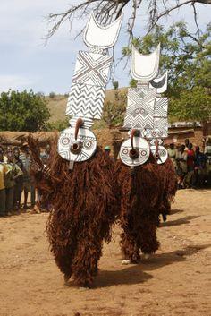 Africa   Bwa masqueraders.  Boni village, Burkina Faso   ©Hal Schneider