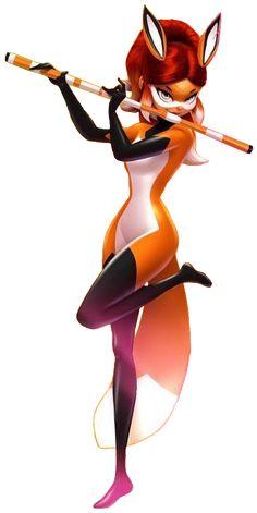 Rena Rouge the fox superhero from Miraculous Ladybug and Cat Noir Miraculous Characters, Miraculous Ladybug Fan Art, Meraculous Ladybug, Ladybug Comics, Les Miraculous, Ladybug Und Cat Noir, Miraculous Ladybug Wallpaper, Disney Drawings, Cartoon Art