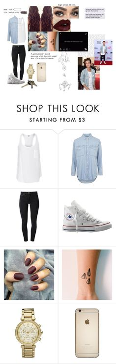 """Matching w/ bae at school <3"" by forever-magcon-lover ❤ liked on Polyvore featuring Splendid, Topshop, Acne Studios, Converse, Michael Kors, Avon and Britney Spears"