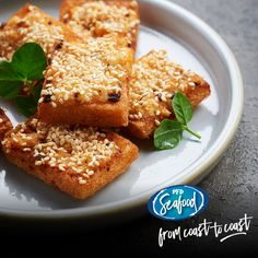Sesame prawn toast is a great starter served with a house made chilli sauce.  PRODUCT CODE: 067905 - Sesame Prawn Toast