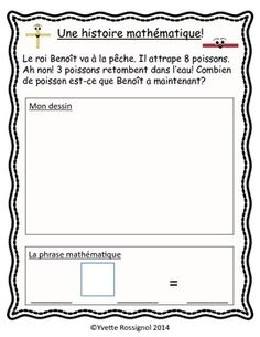 Math 2, 1st Grade Math, Grade 1, French Teaching Resources, Teaching French, Communication Orale, Core French, French Teacher, French Immersion