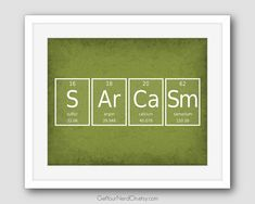 periodic element word poster sarcasm wall art by getyournerdon - Periodic Table Symbols Into Words