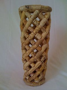 vase made out of corks