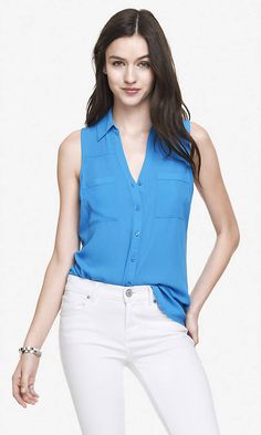 SLEEVELESS PORTOFINO SHIRT | Express