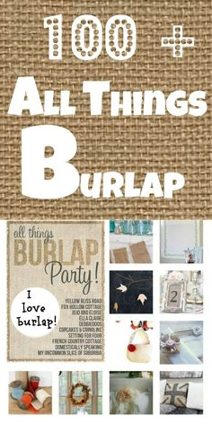 All the #diy #burlap projects you can possibly be looking for all in one place.