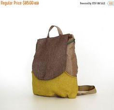HOLIDAY SALE Canvas backpack Rucksack backpack Travel by Badimyon