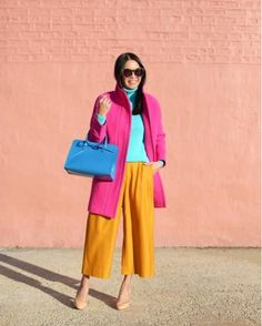 rosie clayton's colorful street style Color Blocking Outfits, Colour Blocking Fashion, Color Combinations For Clothes, Fashion Colours, Colorful Fashion, Hm Outfits, Fashion Outfits, Stylish Outfits, Fashion Trends