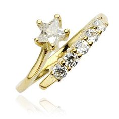 10Kt. Gold Star & Solitaire Cubic Zirconia Toe Ring West Coast Jewelry. $185.95. Save 65%!
