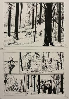 Lincoln Tome 7 Pl 1 par Jérôme Jouvray - Oeuvre originale Comic Book Layout, Comic Book Pages, Comic Books Art, Comic Art, Comic Frame, Tracing Art, Black And White Comics, Graphic Novel Art, Western Comics