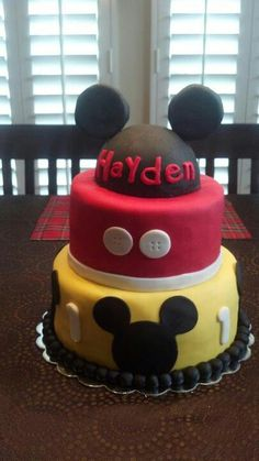 My son's Mickey Mouse Cake