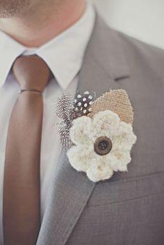 O noivo colorido - gravata em castanho #casarcomgosto
