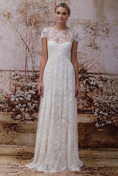 Ellie Long --2 Piece, Lace and Cotton Wedding Dress - Sample ...