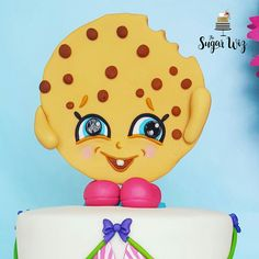 Shopkins Cake, Shopkins Birthday Cake, Shopkins Birthday Ideas, Shopkins, Girl Cake, Girl Cakes, Kooky, Kooky Shopkins, Kooky Fondant, Fondant Shopkins