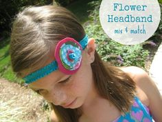 Elastic Headband with Flower - The Sewing Loft