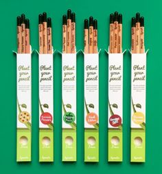 Sprout Plantable Pencils each contain a seed on the end - once your pencil is all used up, plant the nub and watch it grow! Sustainable Schools, Sustainable Living, Save Our Earth, Cool Inventions, Conservation, Cool Items, Sprouts, Sustainability, Zero Waste