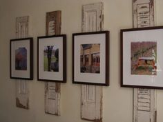 create more visual impact than just the regular frames on the wall alone