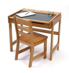 Amazon.com: Lipper International Child's Chalkboard Desk and Chair Set, Pecan: Toys & Games.  $74.98.