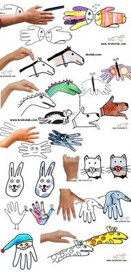 Handprint art - good for kindergarten