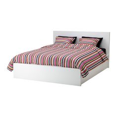 MALM Storage bed IKEA Practical storage space revealed by lifting the slatted base.