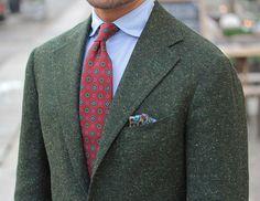 Green jackets.