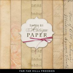 New Freebies Kit of Backgrounds - Antique Paper