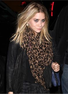 That leopard scarf of Olsen chic.