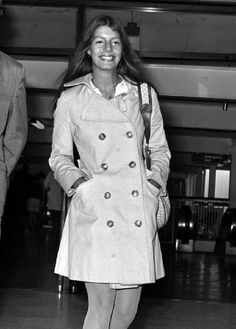 15 July 1970 - Princess Yasmin Khan (aged 20), daughter of the late Aly Khan and film actress Rita Hayworth arriving at Heathrow for a private visit