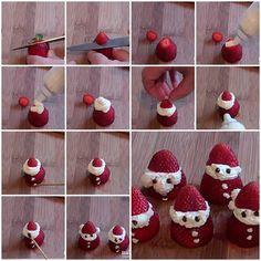 DIY Straberry Santa Claus