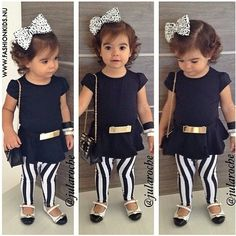 I can't wait till Gaby gets this big to dress her up super cute! Love this outfit!