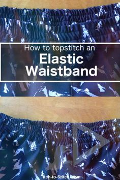 How To Topstitch An Elastic Waistband Sewing Projects For Beginners, Sewing Hacks, Stitch, Full Stop, Beginner Sewing Projects, Stitches, Stitching, Sew, Costura