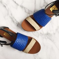 Dolce Vita Sandals Dolce Vita Sandals. Size 7.5. Brand new in box. Colors Black, blue, creamy white. Ankle buckles in dark silver hardware. Comfy and cute! Great for Spring and Summer. Dolce Vita Shoes Sandals