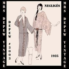 Vintage Sewing Pattern Instructions 1920's Flapper by Mrsdepew, $7.50