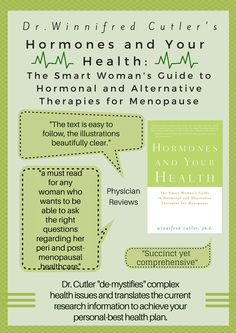 Read more about what physicians have to say about Dr. Cutler's book, Hormones and Your Health, and the many health benefits #health #hormones http://www.athenainstitute.com/hormonesandyourhealth.html